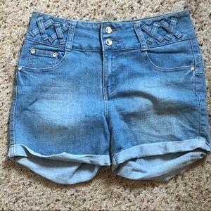 4/20 | Alissa's Light Wash High Waisted Shorts